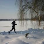 Azi am alergat la -10 grade
