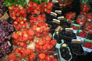 Fructe de padure Borough market Londra