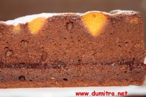Tort cu ciocolata neagra si caise2